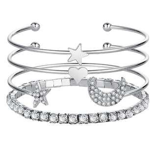🚚 [Free registered mail] bracelet set- available in gold or silver