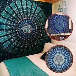 150Cm/210Cm Indian Mandala Tapestry  Bedspread Wall Decor Beach Towel