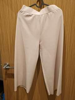 Nude crop flare pants