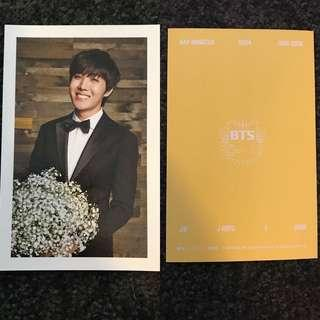 BTS 2nd Membership postcard - Jhope