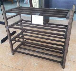 ‼️Stock Clearance‼️ - 4 Tier Wooden Shoe Rack