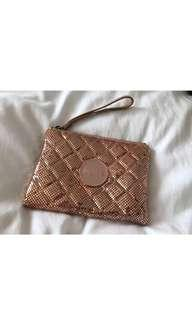 MIMCO medium mesh pouch rose gold limited edition