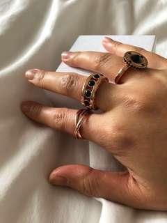Set of 3 Rose gold MIMCO rings