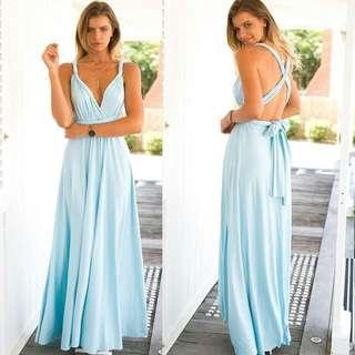 6bdf96e605b Baby Blue Katherine Convertible Infinity Multiway Wrap Bridesmaids Dresses
