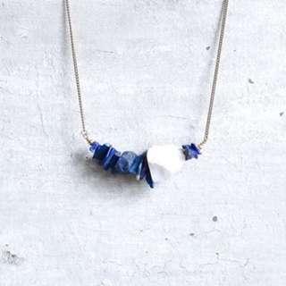 🚚 Freshfromthekiln Lapis Lazuli Raw Stone Necklace
