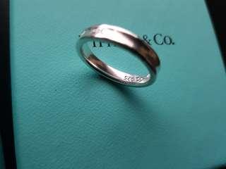Tiffany 1837 narrow 925 Sterling Silver ring