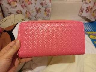 粉紅色長銀包
