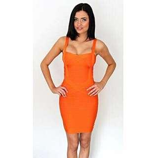 🍑💛🔺🍊 Bright Orange Bandage Dress 🍑💛🔺🍊