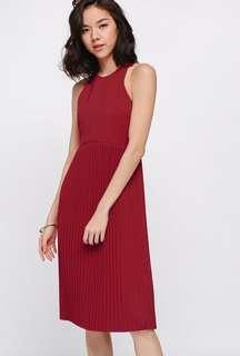 Love Bonito Midi Rasine Dress Red