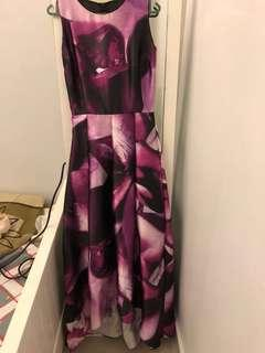 Purple Maxi Dress - petite size XS