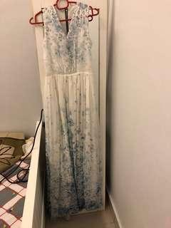 Inspired Valentino Chiffon Maxi dress size XS