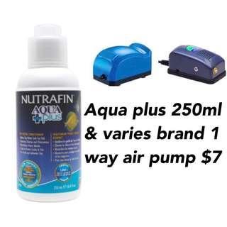 CNY sales $7 for Aqua plus 250ml and 1 way air pump
