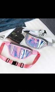 holographic fanny laser hip waist bag