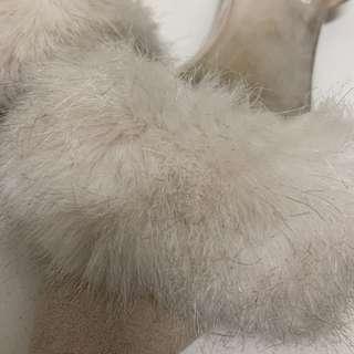 日本兔毛拖鞋 涼鞋