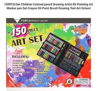 150PCS/Set Children Colored pencil Drawing Artist Kit Painting Art Marker pen Set Crayon Oil Paint Brush Drawing Tool Art School
