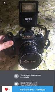 Vintage camera Canon T50 + FD50mm f1.8 lens