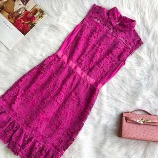 CNY Purple Sleeveless Lace Dress S M #CNYCS