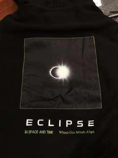 Stoned Eclipse Moon Hoodie Black S