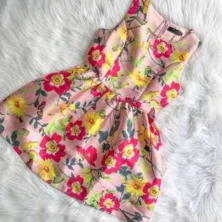 CNY Fit and Flare Floral Sleeveless Dress Soft Pink S M L #CNYRED