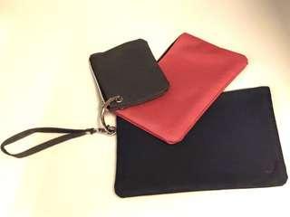 Hong Kong Jockey Club 限量版可拆式手提多用途分隔袋一套三個 Clutch Bags Set