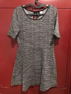 H&M Divided   Black and White Weaved Skater Dress