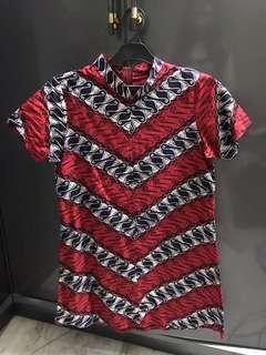 Batik dress red