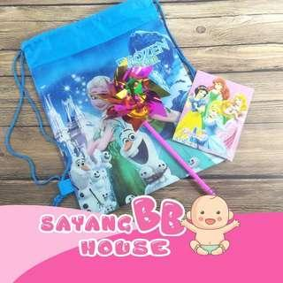 Nursery / Preschool Birthday Party Gift Peppa Big Frozen Sofia Colouring Book with Cartoon Bag