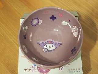 全新 7 11 sanrio 花雨 花語 花形陶瓷碗 no. 10 kuromi