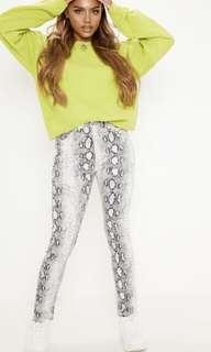 Brand new pretty little things snake print pant