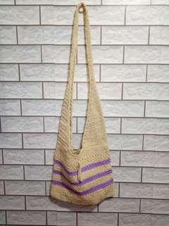 Tas selempang white purple