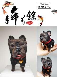 🚚 羊毛氈手作-法鬥(客製)
