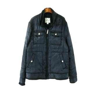 🚚 【YISHION】黑色中性多口袋長袖舖棉外套 M號