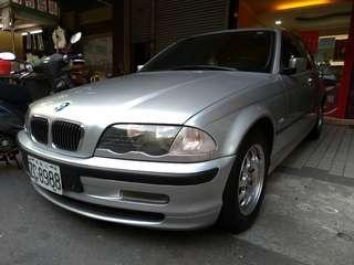 高雄自售 BMW 320iZA E46 2.0頂級版手自排 一手新車 1999年出廠/直列六缸引擎/原廠保養/車況良好 前年出清價
