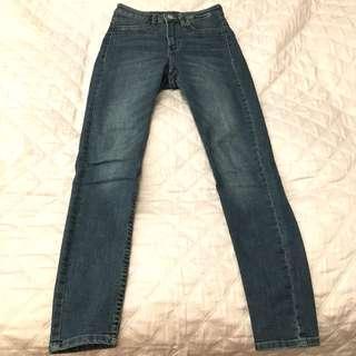 H&M Blue Denim High Waisted Jeans