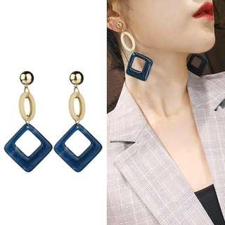 ╭✿蕾兒0509✿╮DB035-韓國耳飾大氣磅礴醋酸壓克力耳環耳釘耳針飾品首飾