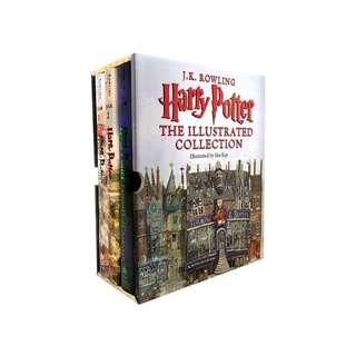 🚚 🔥Harry Potter: The Illustrated Collection (Books 1, 2 & 3 Boxed Set)
