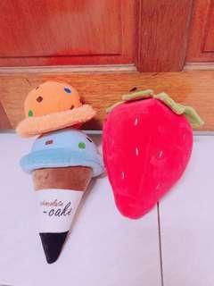 🚚 25公分冰淇淋 冰淇淋可分開 20公分 草莓娃娃 玩偶 裝飾 擺設