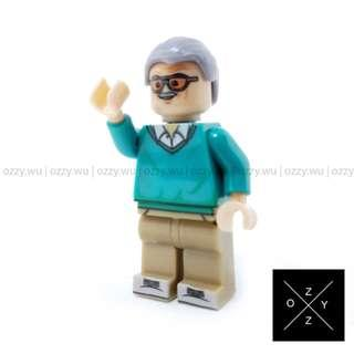 Lego Compatible Marvel Superheroes Minifigures : Stan Lee (Spider-man Homecoming)