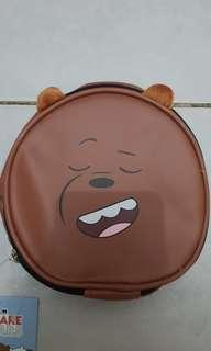 We Bare Bears Brown Pouch