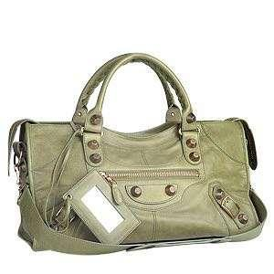 Authentic Balenciaga Militaire Green Large City Bag