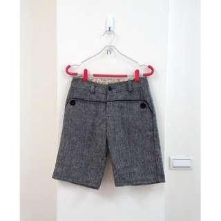 🚚 側釦織紋毛料短褲