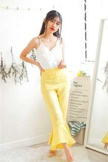 Yellow Ruffles Pants