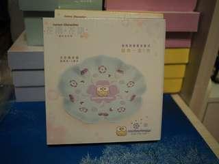 全新 未開盒 7 11 sanrio 花雨 花語 特別版 花形陶瓷碟  青蛙仔