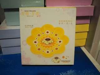 全新 未開盒 7 11 sanrio 花雨 花語 特別版 花形陶瓷碟 布甸狗