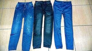 Jegging skinny motif jeans