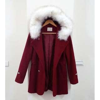🚚 千金風排釦毛呢大衣外套