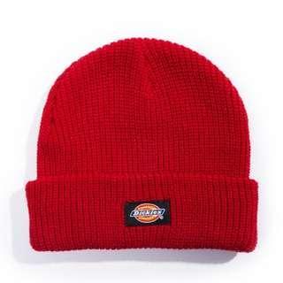 Dickies 短毛帽 紅