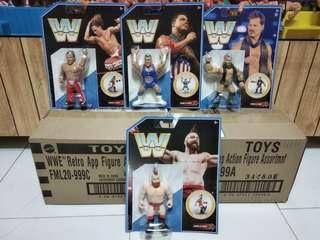 Mattel Retro WWE Series 7 complete set of 4 Angle, HBK, Jericho, Sheamus