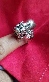 Pixiu Wealth Ring silver