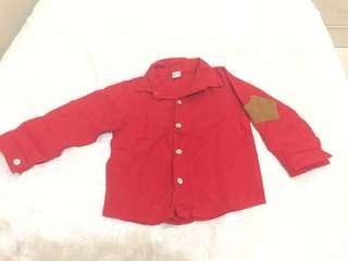 Kemeja Merah Anak Cowok 2-3 tahun